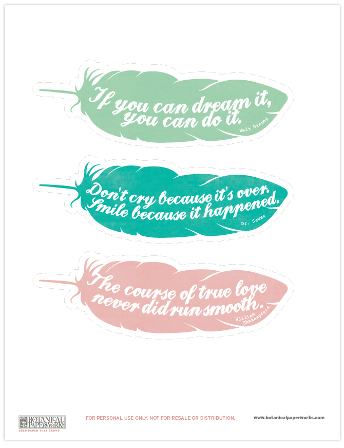 Challenger image with free printable bookmarks with quotes