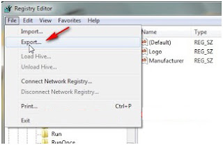 Cara backup dan restore registry windows 7