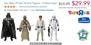 "Star Wars A New Hope 18"" Figure 4-Pack スターウォーズ action figures Black Friday sale cheap"