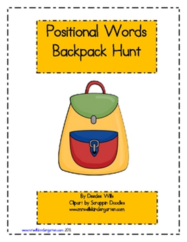 http://www.teacherspayteachers.com/Product/Positional-Words-Back-Pack-Hunt-FREE-139451