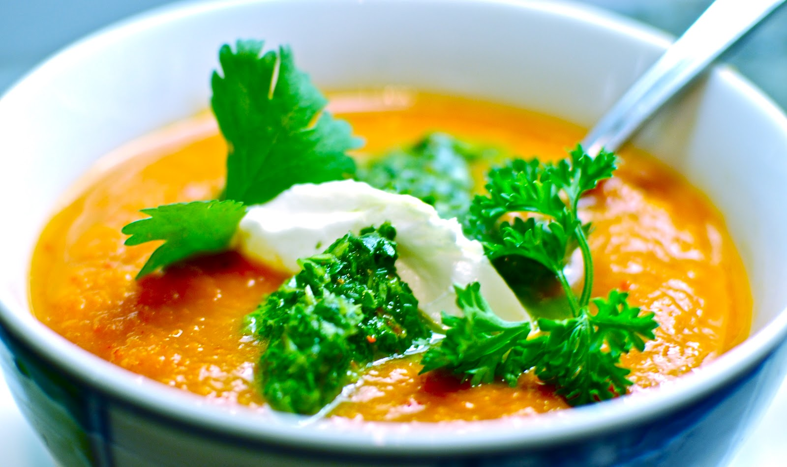 The Love of Food: Roasted Red Pepper Soup with Smoked Paprika and ...