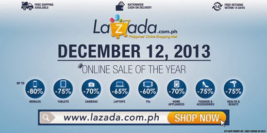 12/12/13: LAZADA'S BIGGEST ONLINE SALE OF THE YEAR