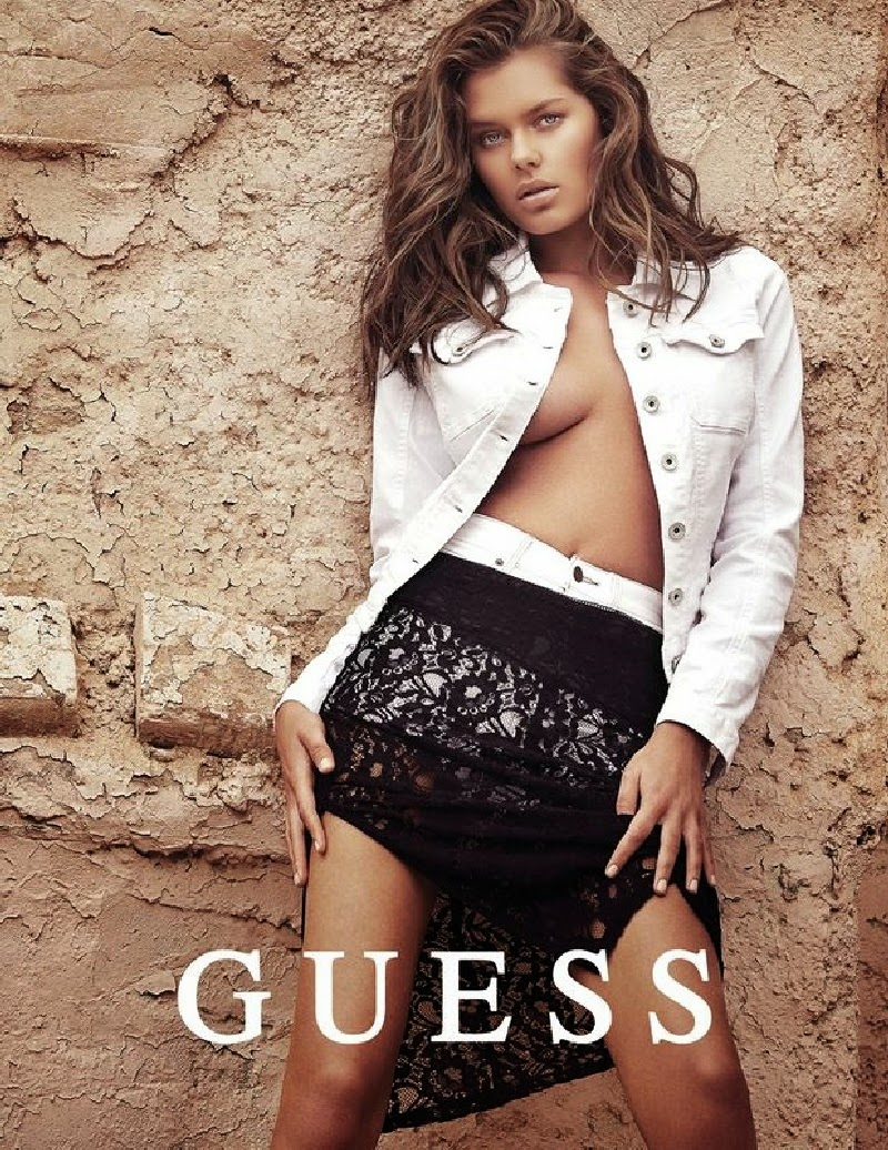 Solveig Mork flaunts revealing styles for the Guess Holiday 2014 Campaign