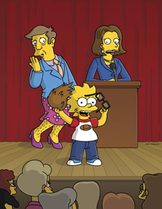 Promotional art for The Simpsons episode Girls Just Want To Have Sums, copyright Fox