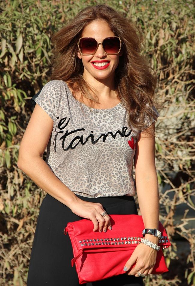 בלוג אופנה Vered'Style מנומר ואדום