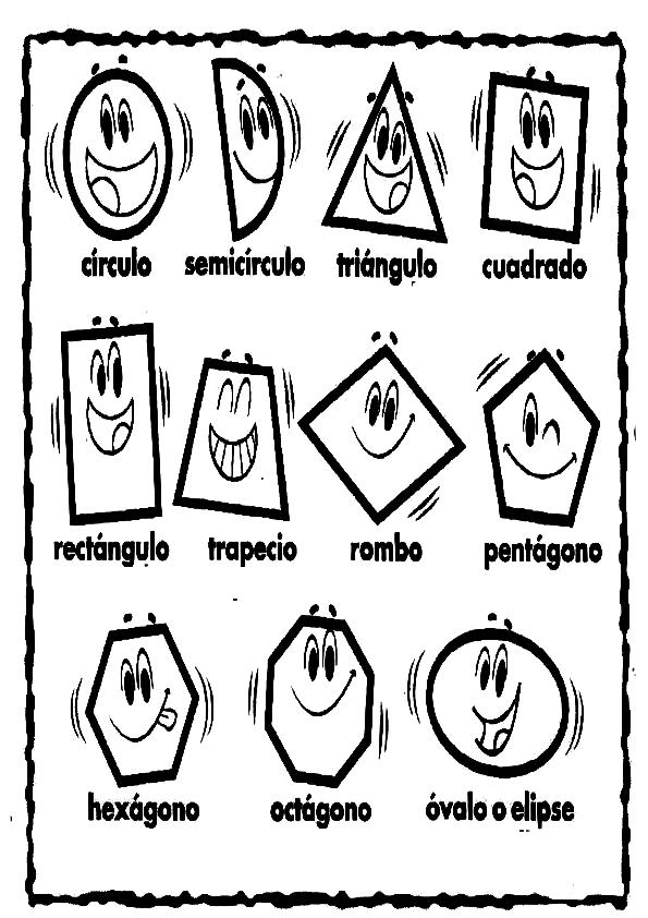 Figuras geometricas animadas para colorear - Imagui