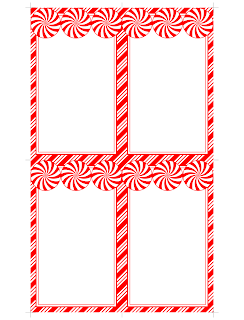Printable Peppermint Cards