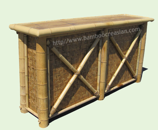 Quality bamboo and asian thatch bamboo tiki bars hut for Home bar kits and plans
