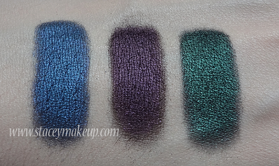 Makeup Geek Eyeshadows swatches nautica, drama queen, envy