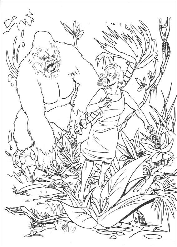 King Kong Coloring page Screenfonds