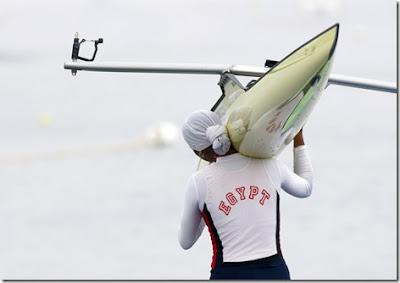 Egyptian rower Heba Ahmed Beijing Olympics Hijab