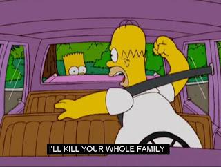 homer simpson i will kill your whole family bart simpson the simpsons, homer simpson, bart simpson, the simpsons, simpsons funny captions, simpsons funny pictures, simpsons captions