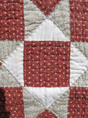 Quilt Star Table Runner in Browns and Rust