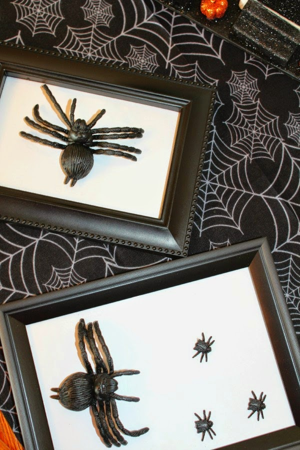 easy diy spider picture frame