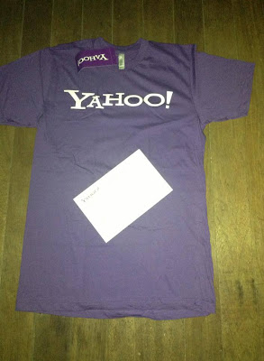 And he also got a shirt from Yahoo for reporting security bugs in