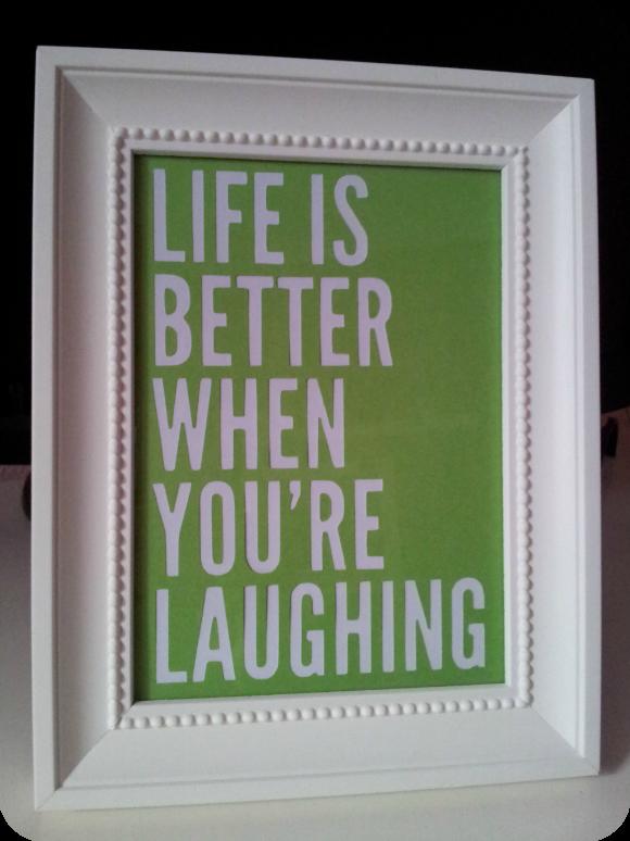 cuadro la vida es mejor cuando tu sonries
