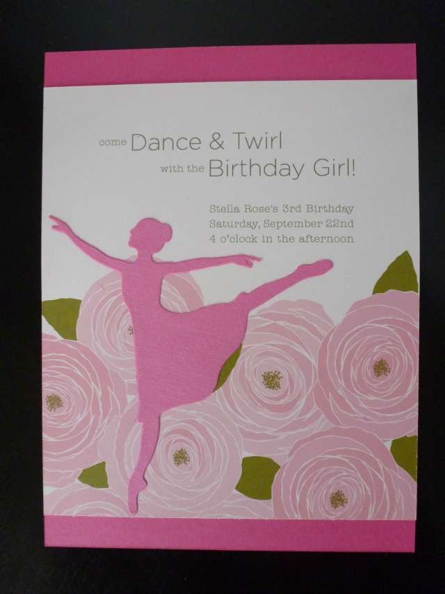 Ballet birthday party invitation / invite