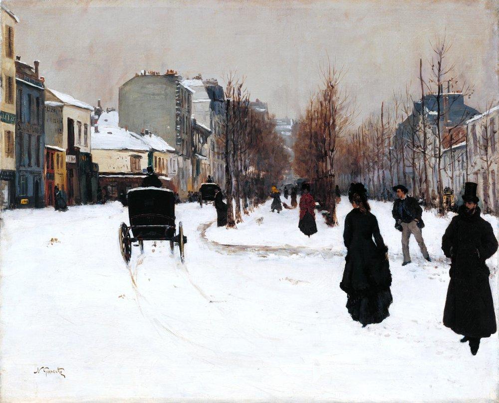 Norbert Goeneutte The  oulevard de Clichy under Snow