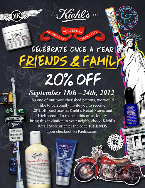 Kiehls Friends & Family Sale Code 2012