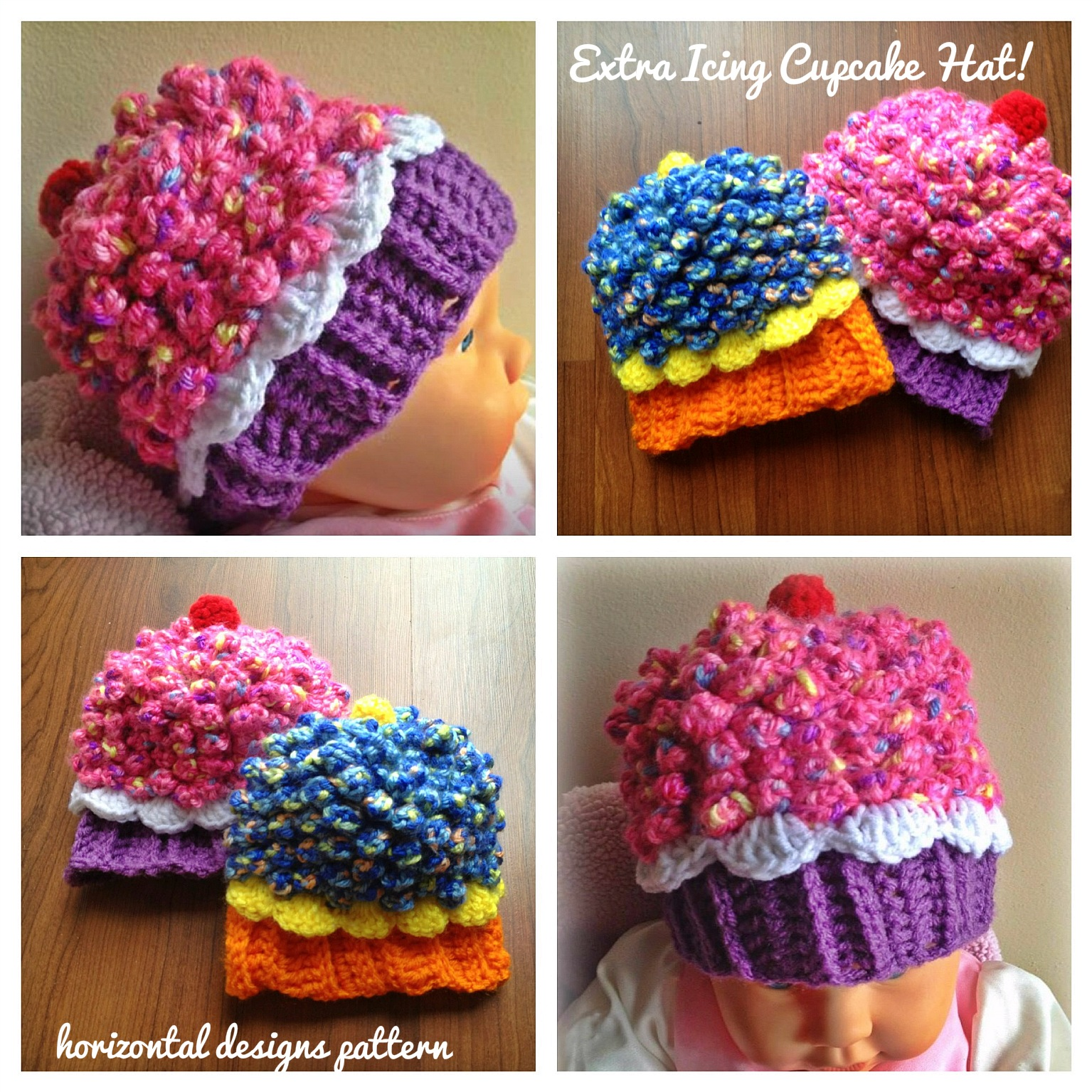 Studio create giveaway cupcake hat extra icing pattern cupcake hat extra icing pattern five babytoddler sizes bankloansurffo Images