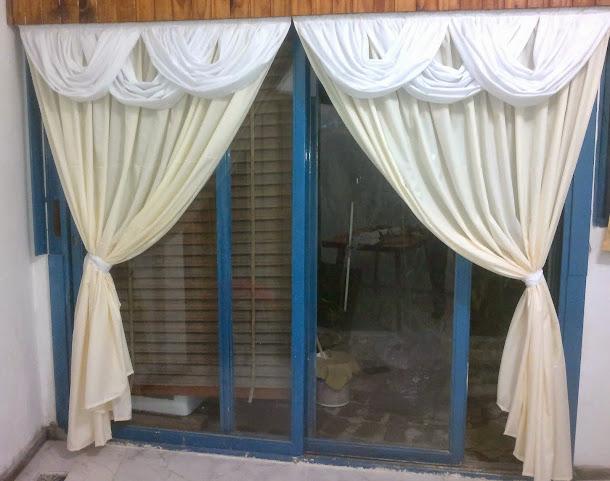 cortina tela microfibra 2 paños y faldon 2.60x2.1 color a eleccion  $1200 consulte x otras medidas
