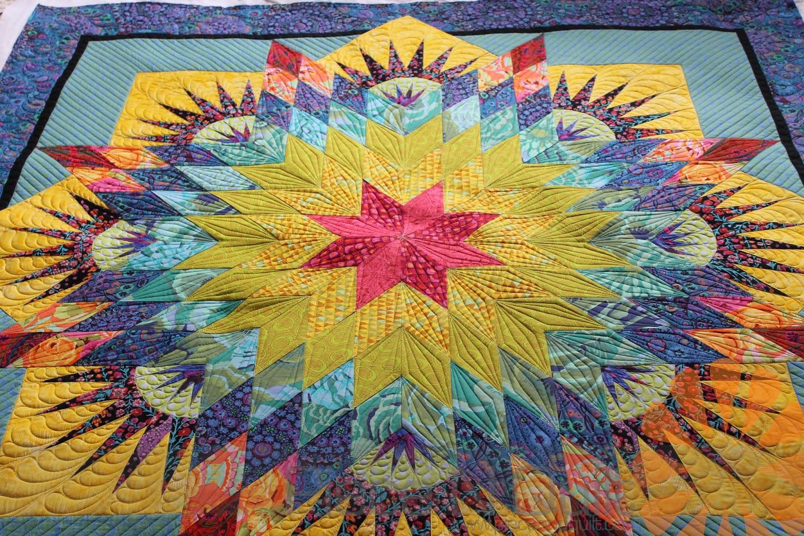Piece N Quilt: Paper Pieced Star Quilt - Custom Machine Quilting ... : paper pieced quilts - Adamdwight.com