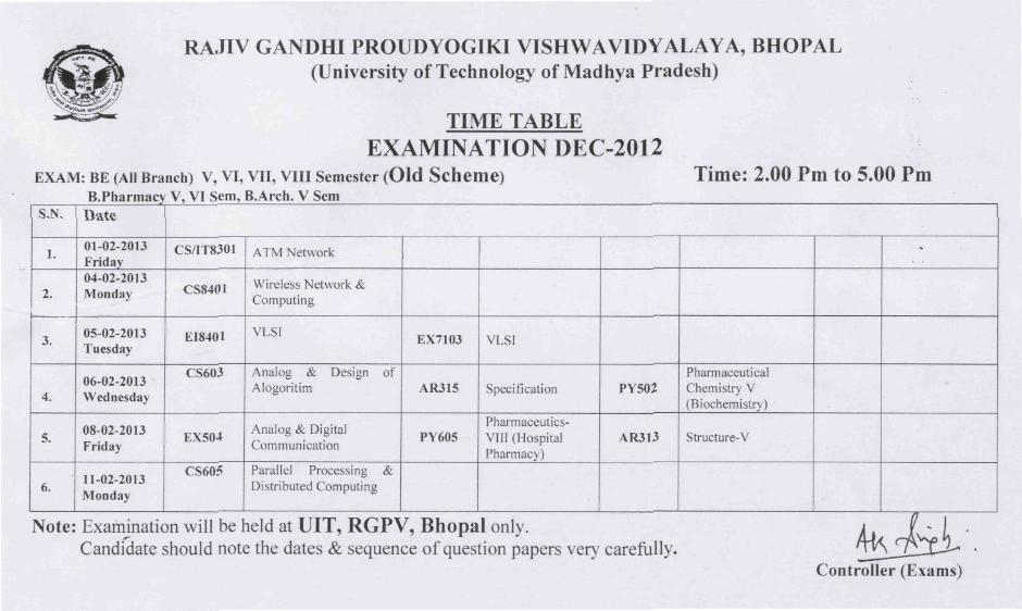 Zica Exam Time Table 2013 2015 | Personal Blog