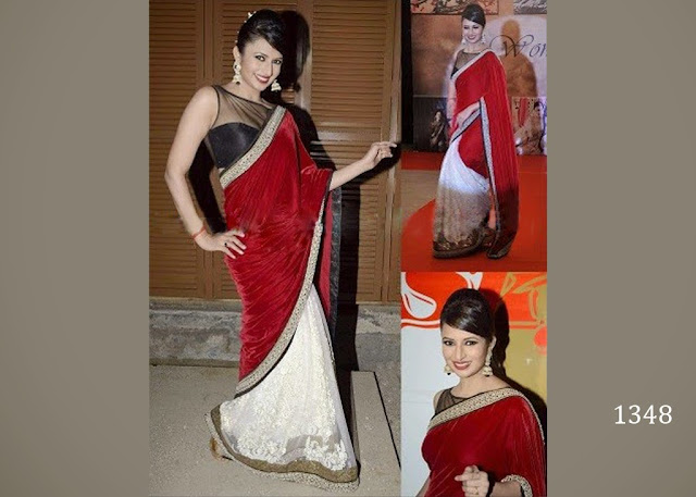 1348-divyanka_red_saree_-_fashionkafatka