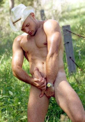 Cowboy Jerking Off
