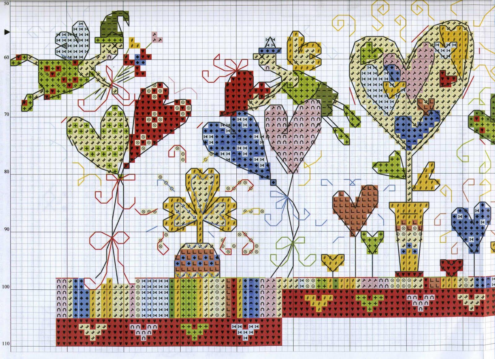 Вышивки крестом схемы сад