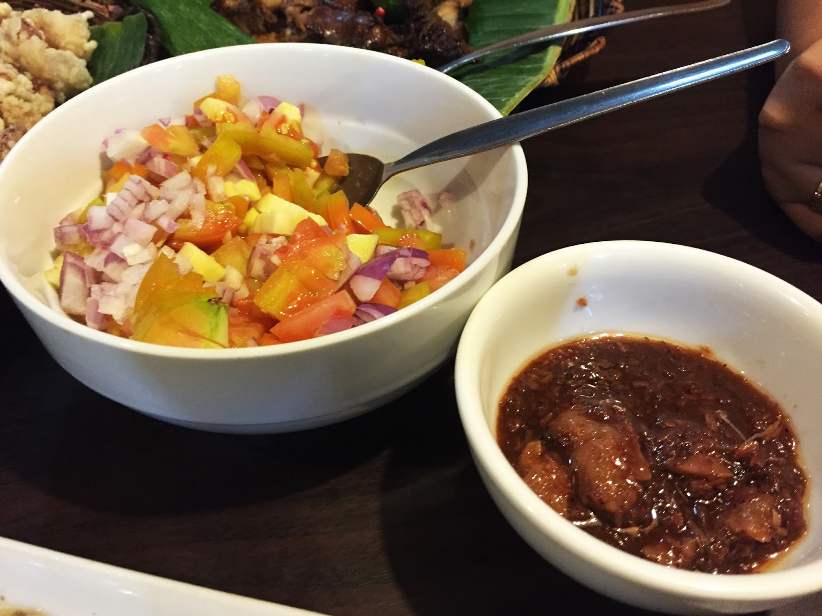 Filipino Food at dampa sa Tarlac Seafood Restaurant: Ensaladang Mangga