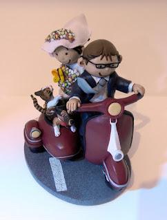 orme magiche cake topper personalizzati cartoon scultura sposini sposi torta nuziale decorazione fatte a mano scolpite modellini