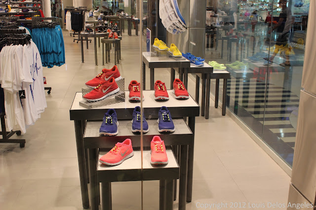 Red shoes at Foot Locker in Micronesia Mall