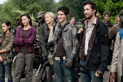 The cast of Falling Skies, well half