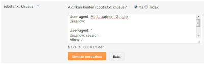 robot. txt khusus