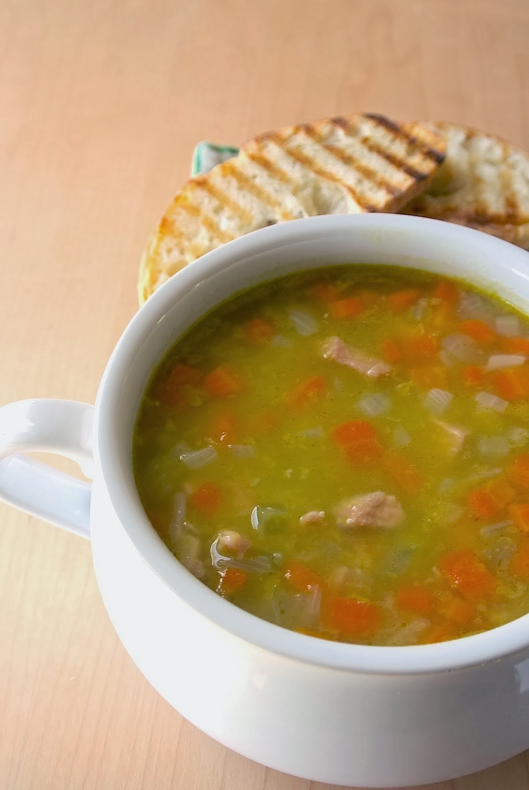 Ham and split pea soup - Culinary Ginger