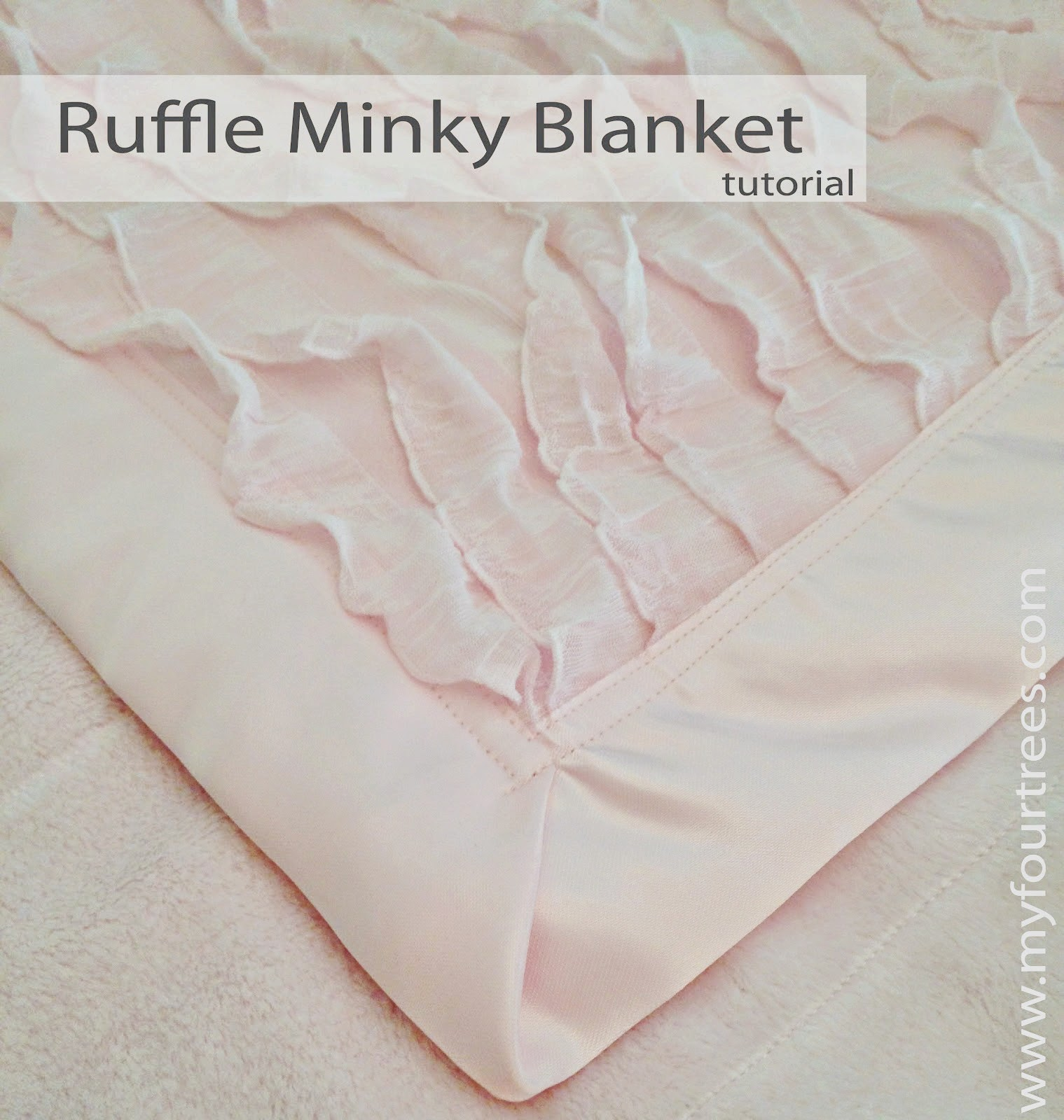 Ruffle Fabric Baby Blanket Tutorial by My Four Trees - TONS of baby blanket tutorials!