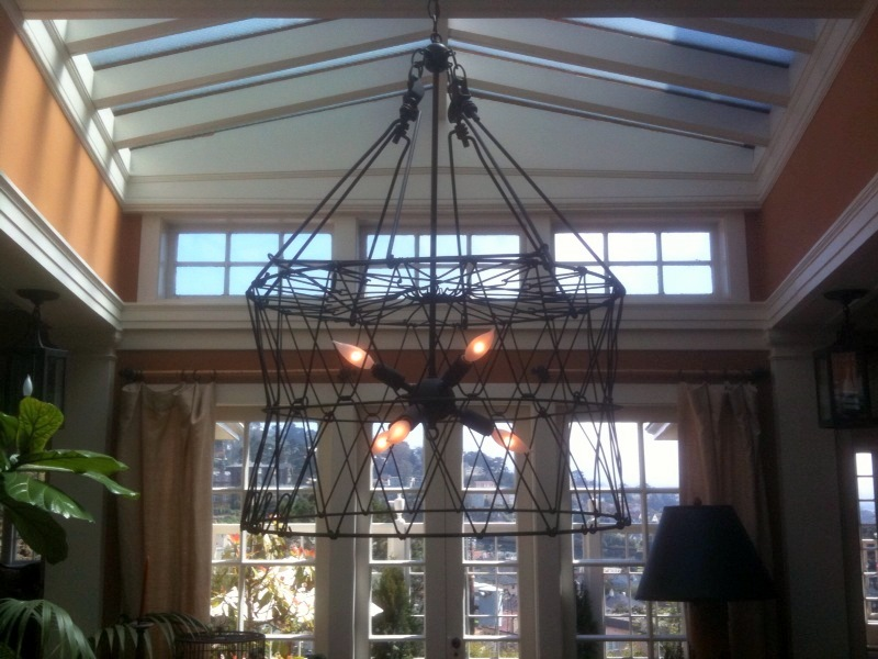 haute indoor couture a diy chandelier. Black Bedroom Furniture Sets. Home Design Ideas