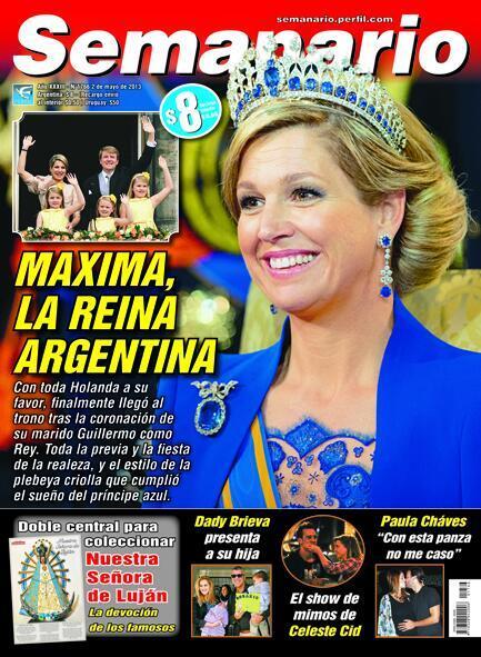 M xima la reina de argentina es el t tulo principal de for Revistas del espectaculo