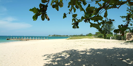 The residents' private beach at Runaway Bay, Jamaica