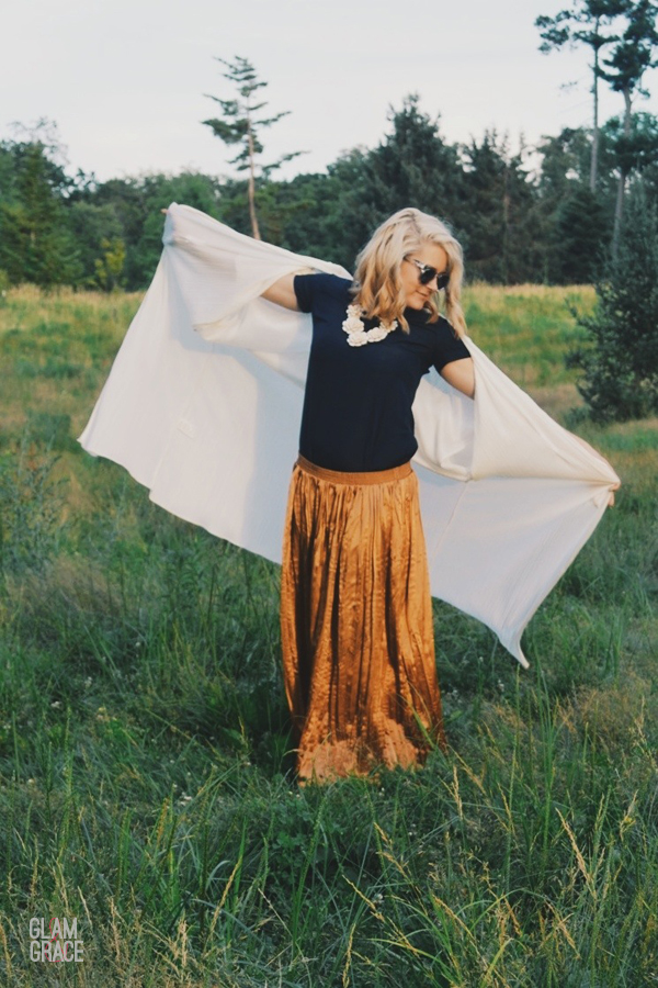 ohio fashion - field photoshoot