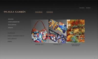 ver web Olalla Gambín: moda y complementos (bolsos, monederos, tarjeteros...)