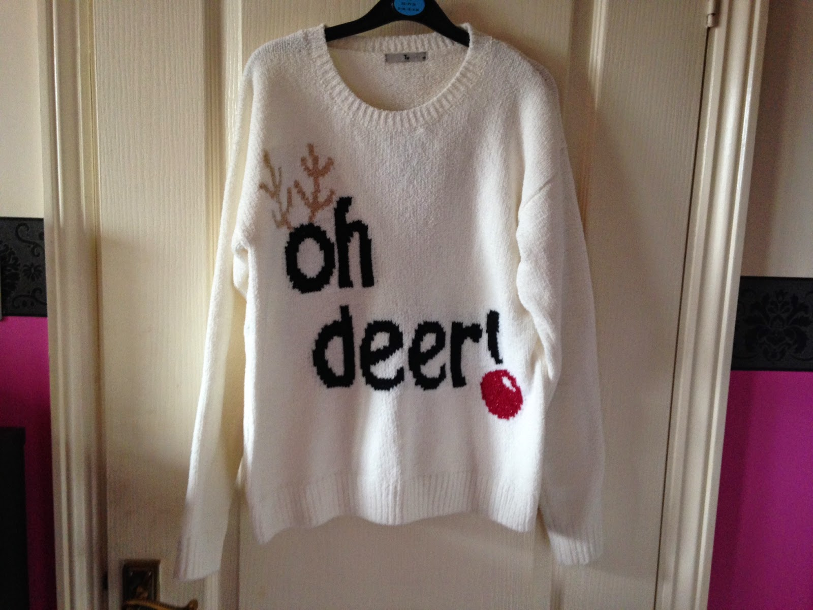 Tu Christmas Oh Deer Jumper