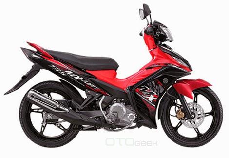 gambar motor yamaha jupiter mx merah sdb