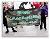 Military rape banner