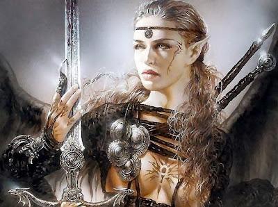 elfa guerrera con espada