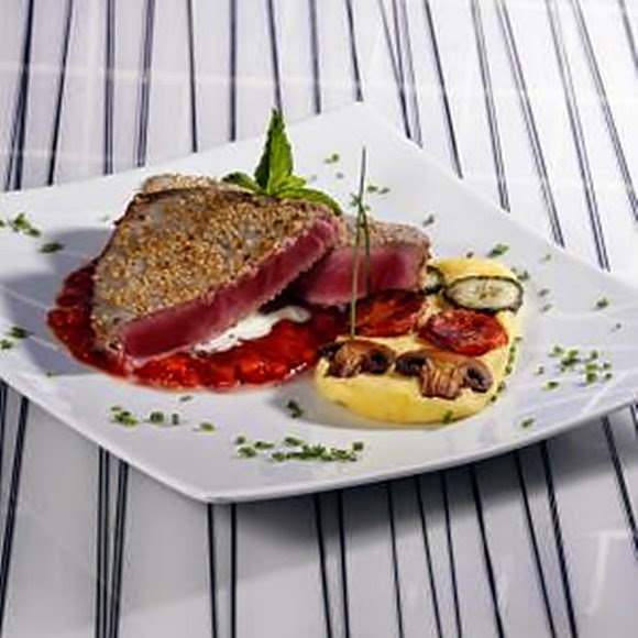 Steak Con Ajonjoli