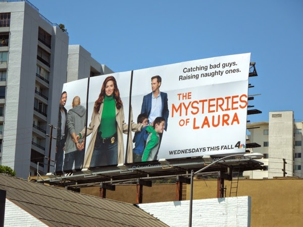 Mysteries of Laura series premiere billboard