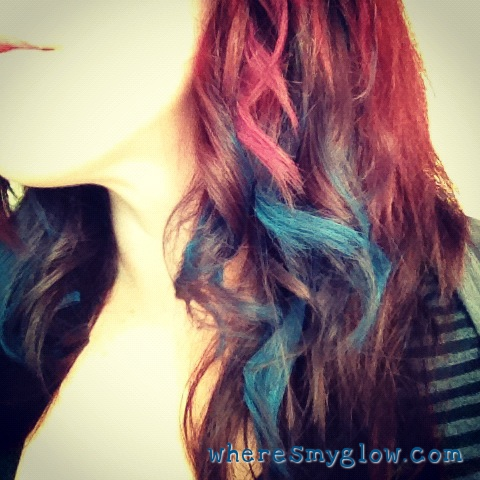 Hair Chalk On Dark Hair