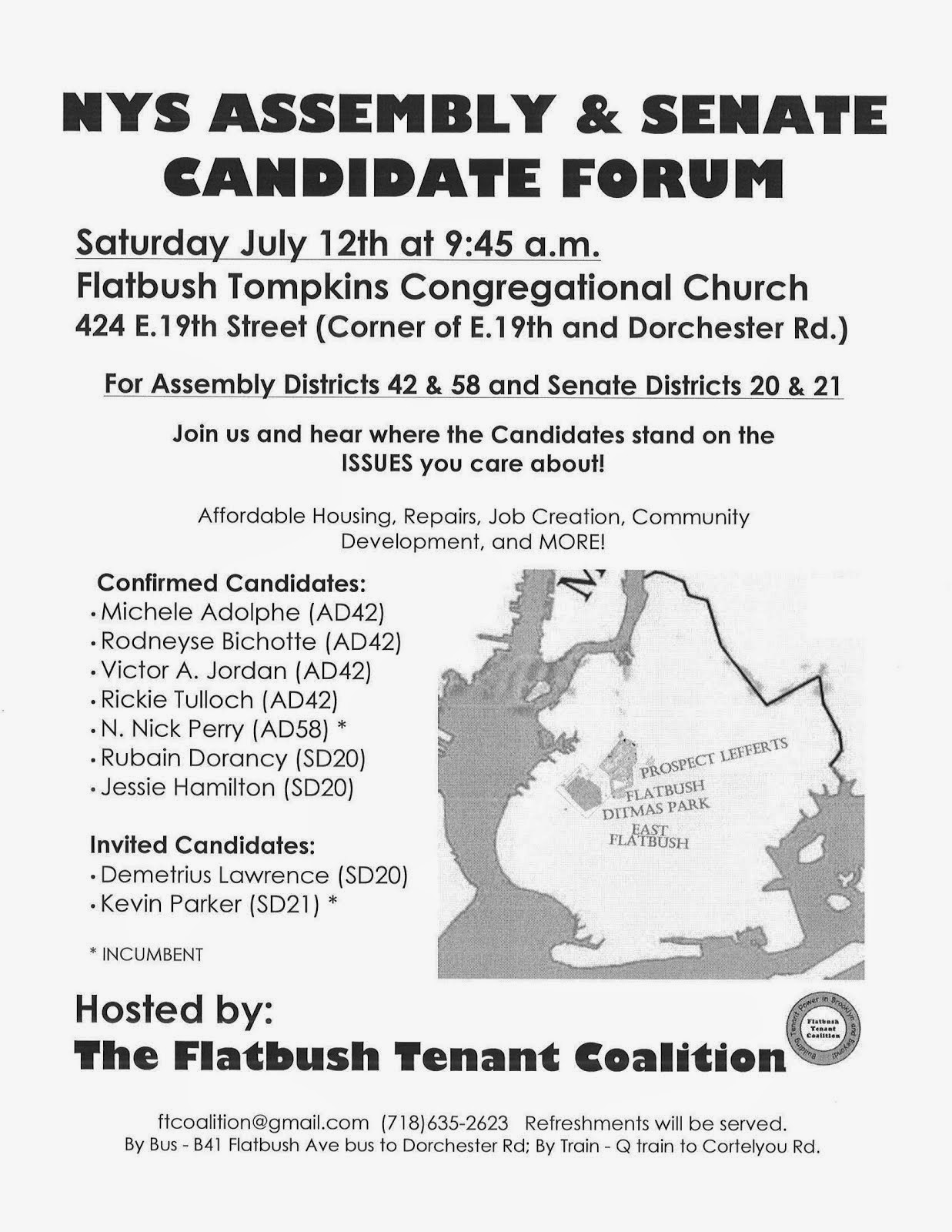 Candidates Forum - July 12th